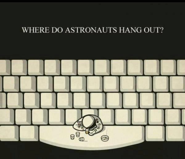 Where do Austronauts Hang out?