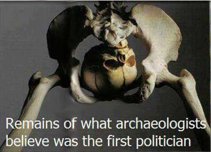 Remains of what archaeologists believe was the first politician