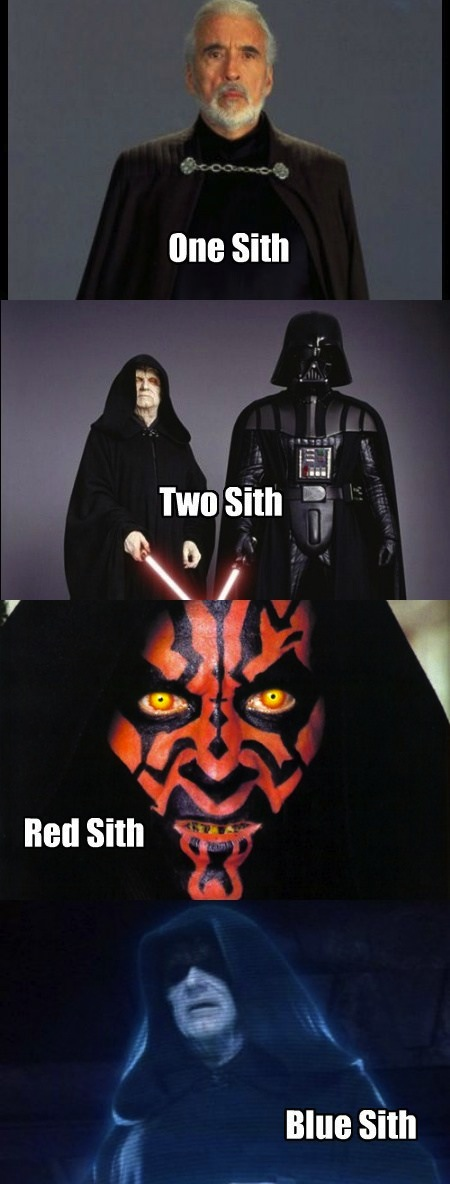 One Sith - Two Sith - Red Sith - Blue Sith