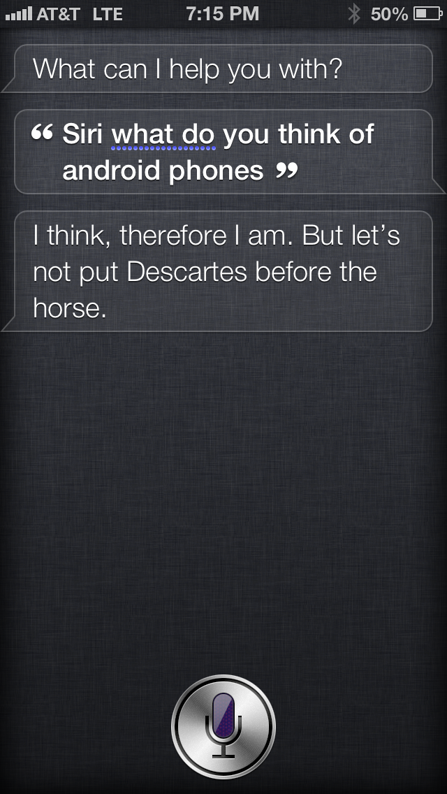 Let's not put Descartes before the horse