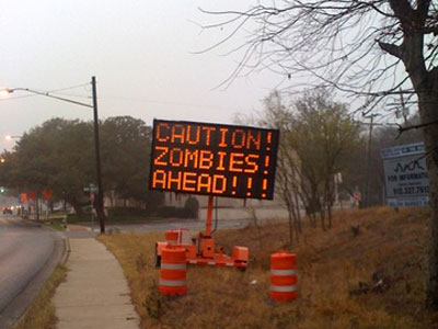 Zombies Ahead in Austin, Texas