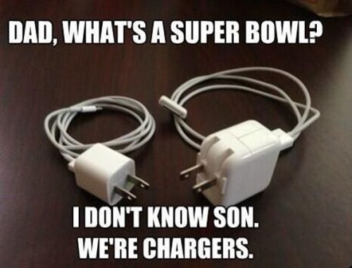 I don't know son. We're chargers